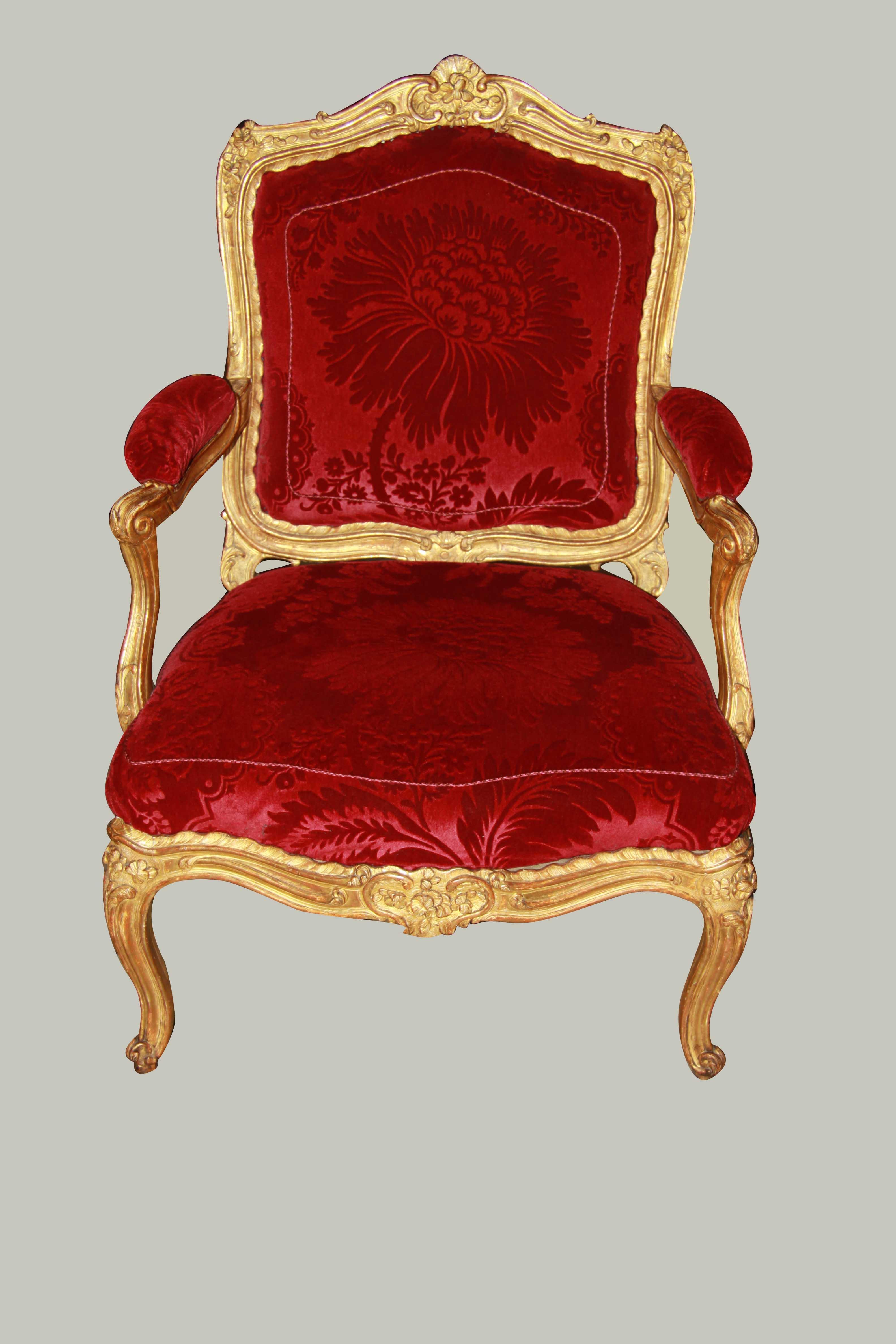 Quatre fauteuils à chassis de Cresson