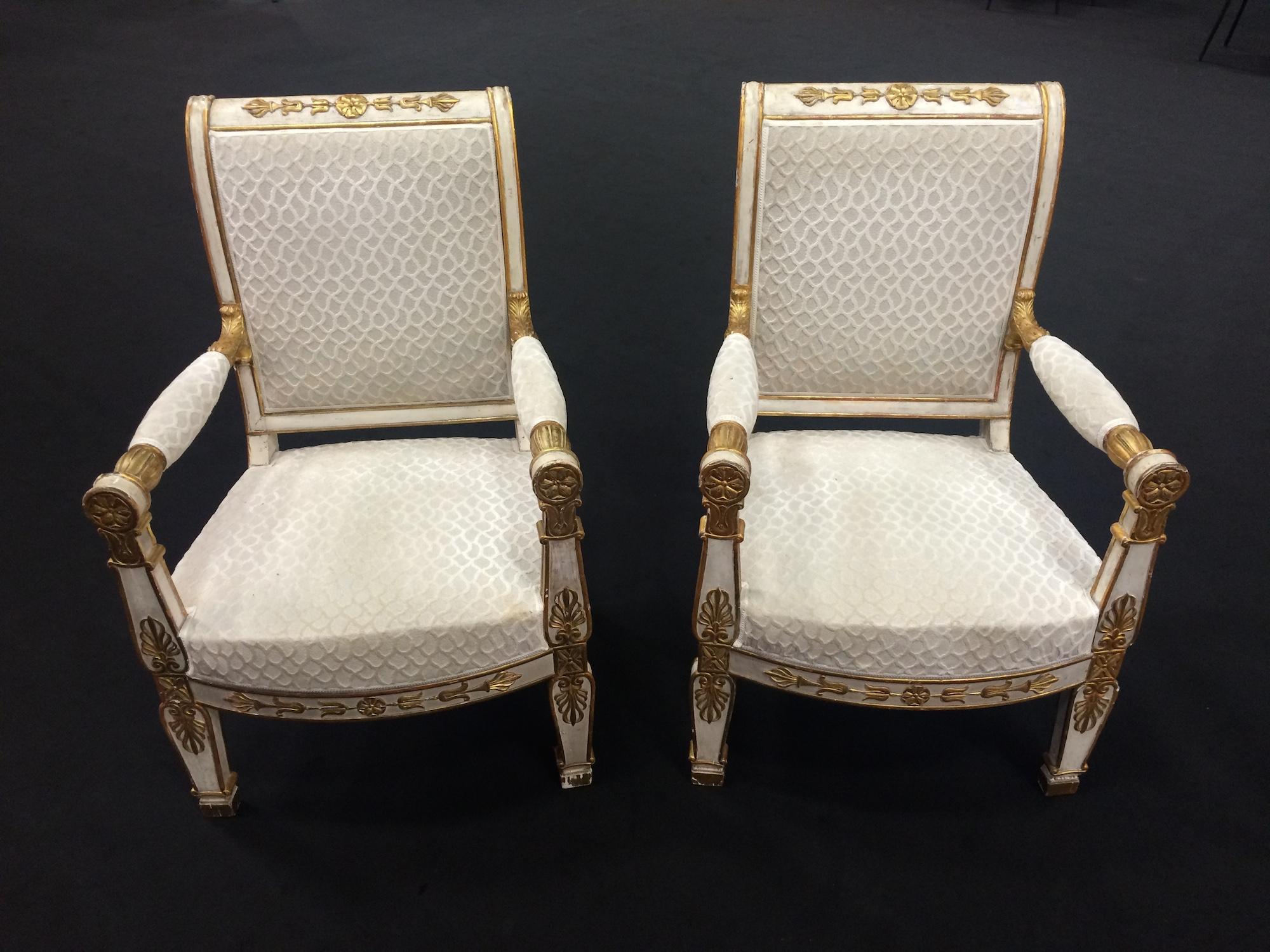 Paire de fauteuils Epoque Empire