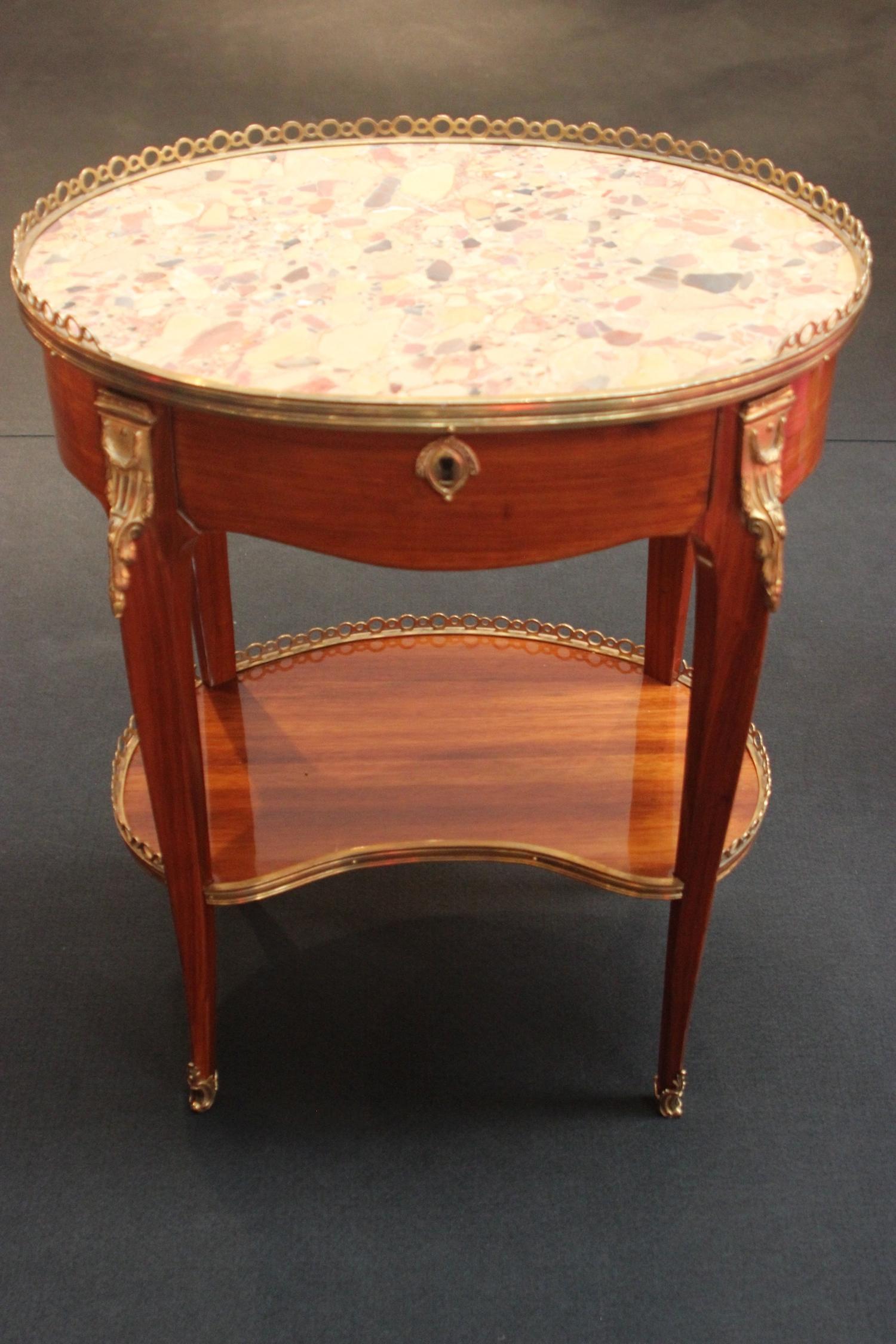 Petite table à écrire d'époque Louis XV