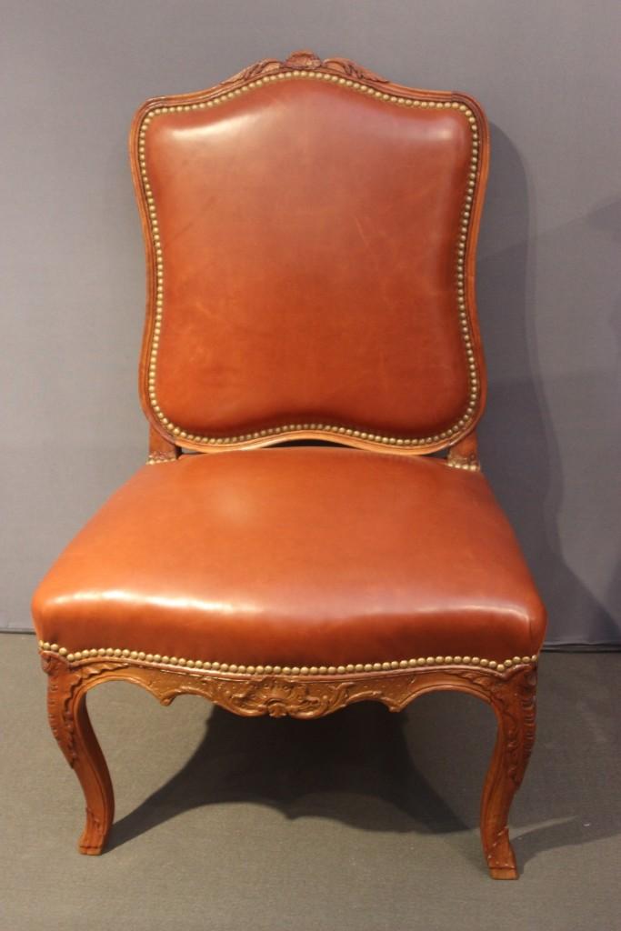 Ensemble chaises cuir