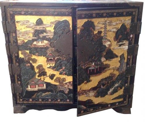 Cabinet laque de Coromandel