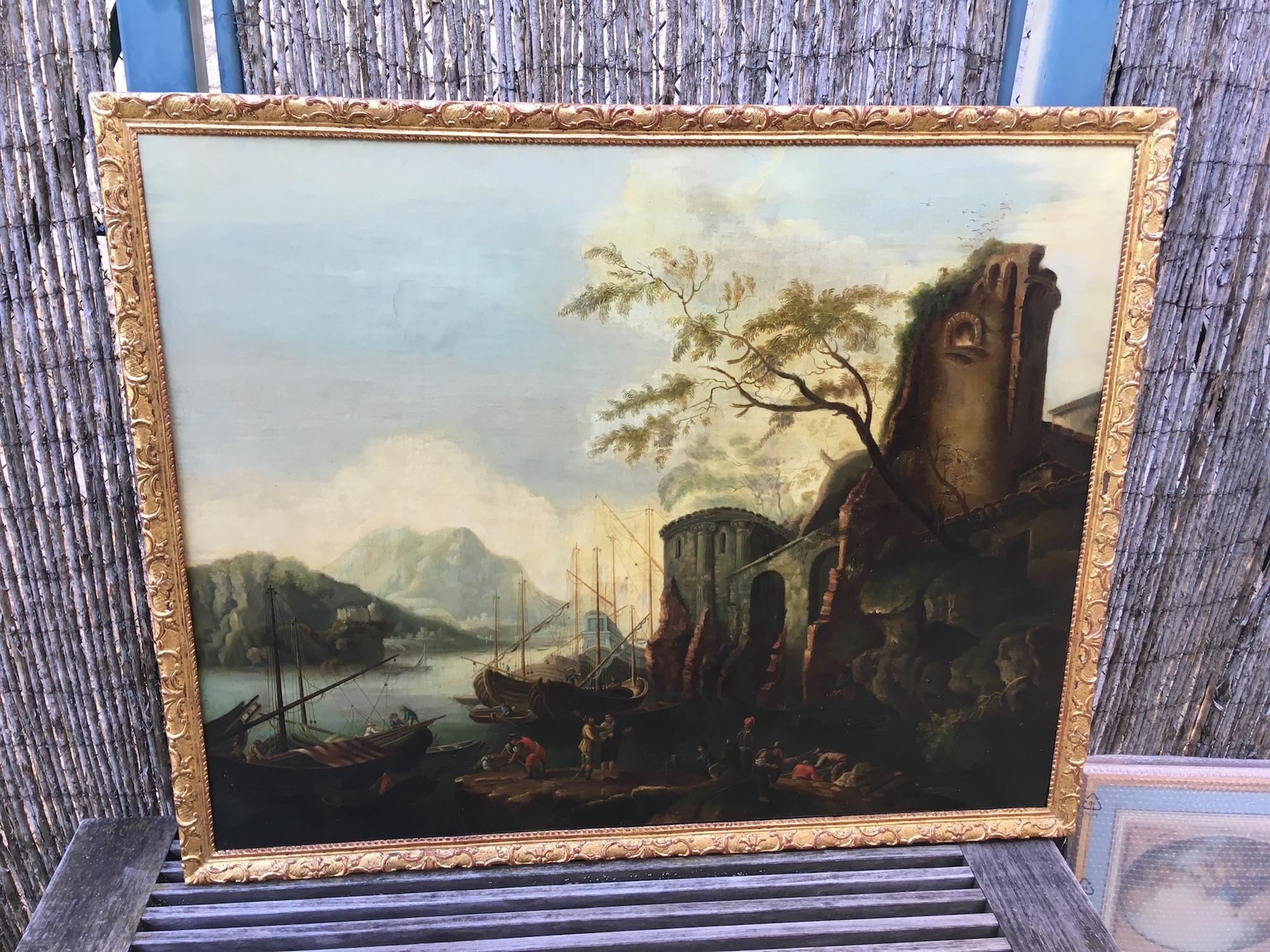 Huile sur toile Epoque 18ème siècle