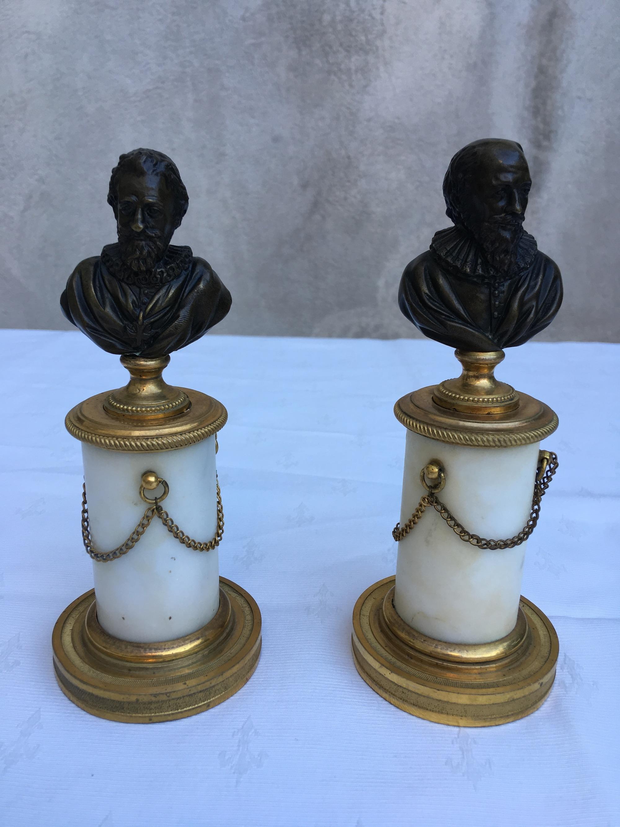 Paire de bustes Louis XVI