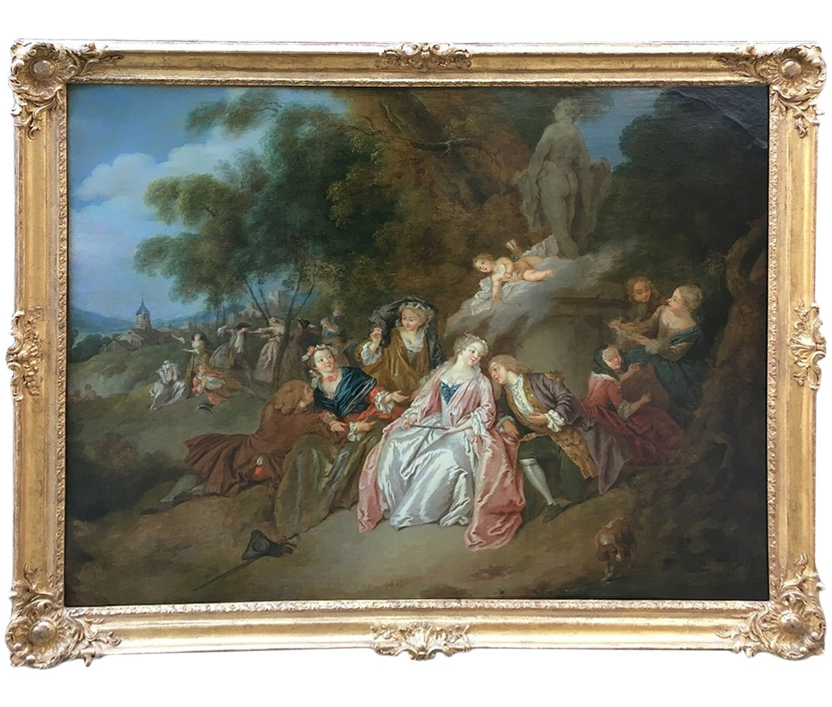 Scène galante, 18eme siècle