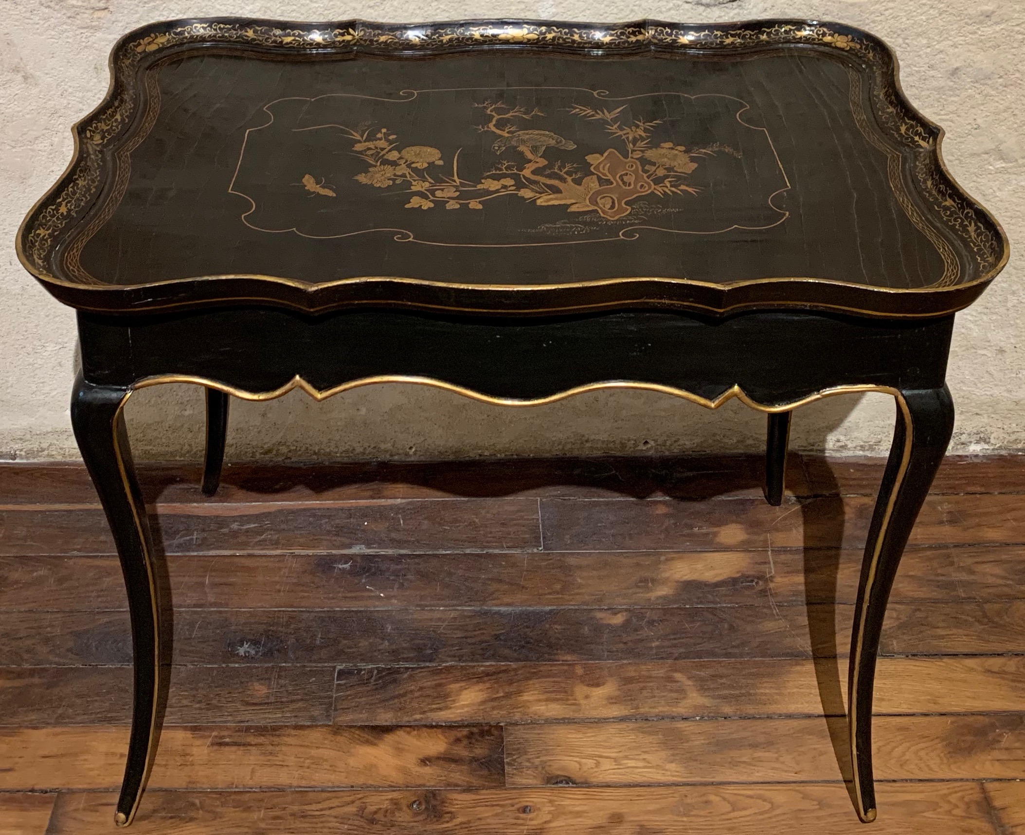 Table cabaret en laque européenne d'époque Louis XV