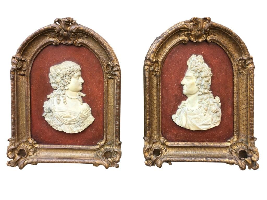 Paire cadres Louis XIV (1)