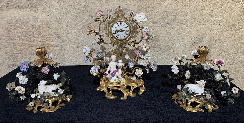 Garniture en porcelaine de Meissen