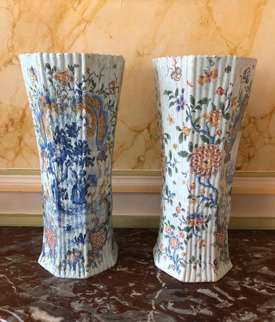 Paire vases Delft