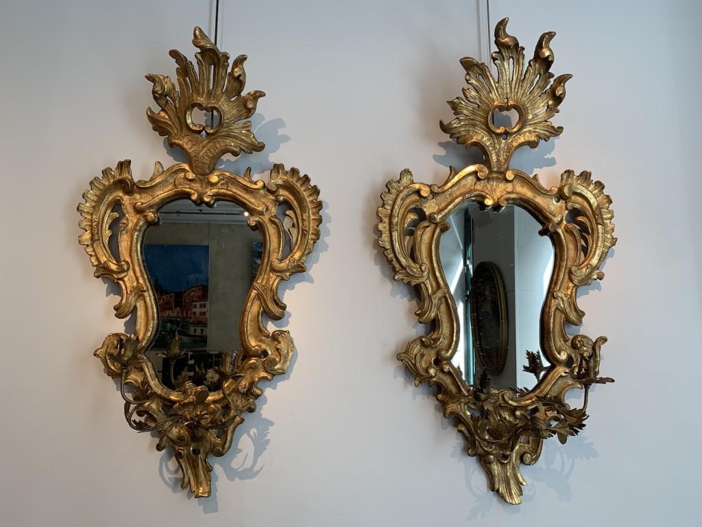 Paire miroirs italiens