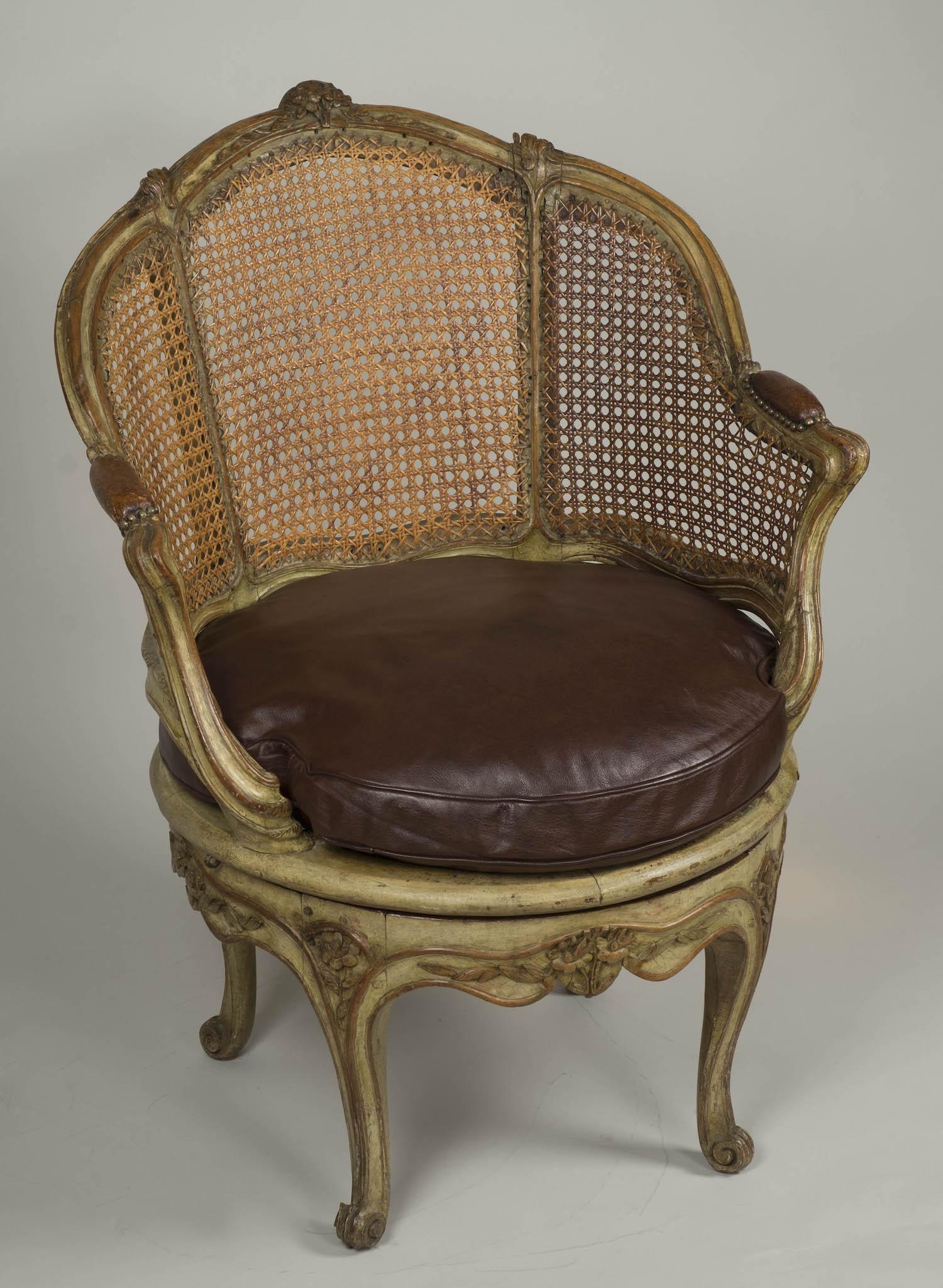 Fauteuil de bureau Louis XV