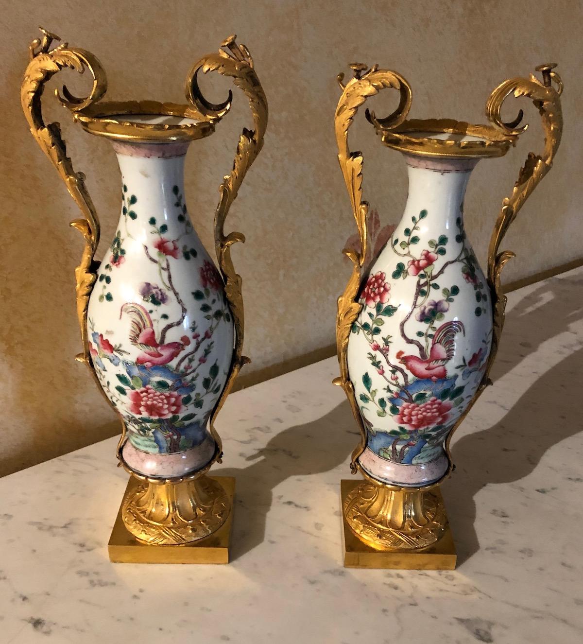 Paire de vases d'époque Louis XVI