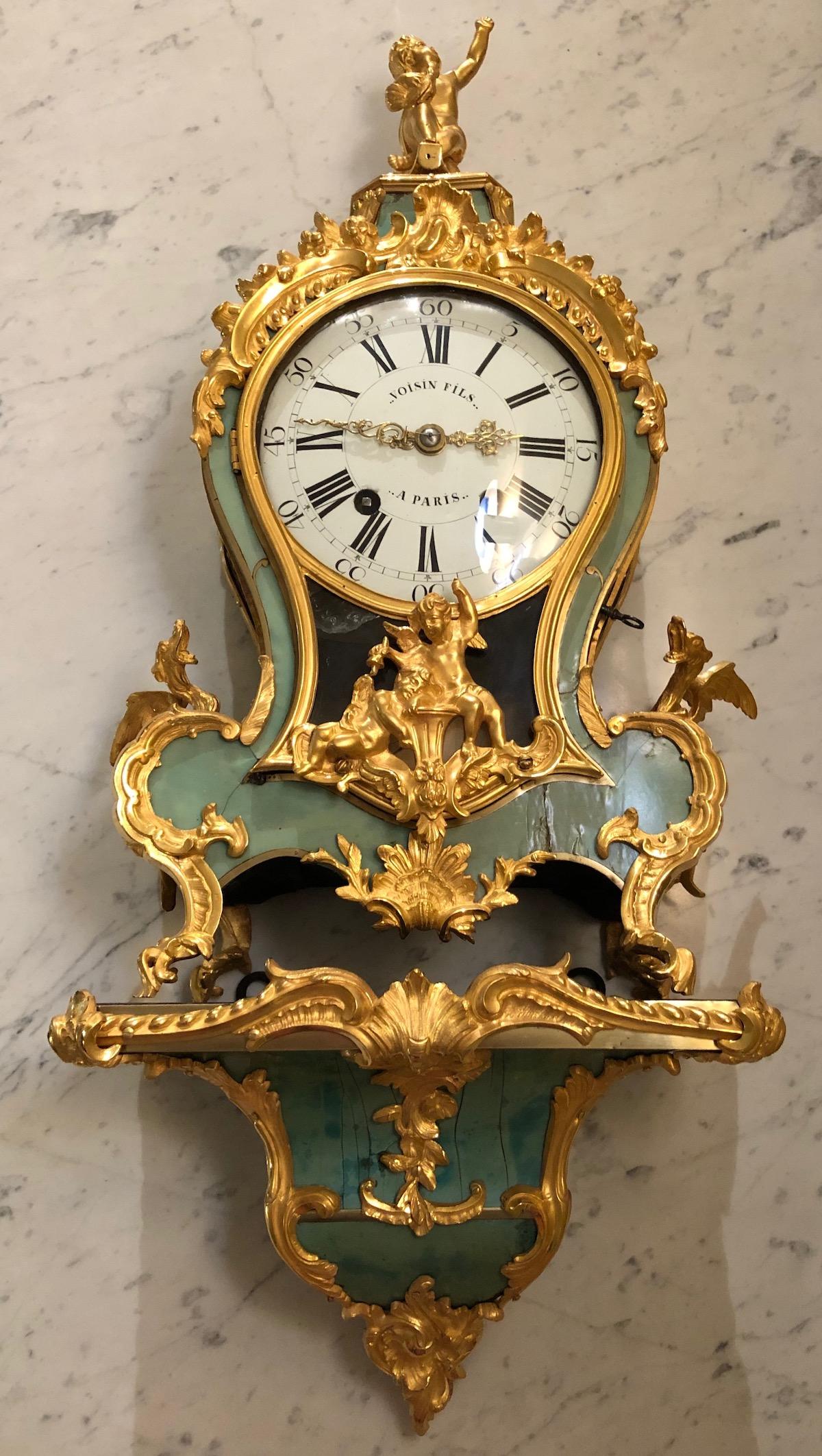 Cartel vert aux chimères d'époque Louis XV